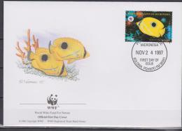 Micronesia, 1997, WWF, Tropical Fishes, 4 FDC´s - Vissen