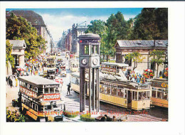 CPM Reproduction / ALT-BERLIN Potsdamer Platz Und Leipziger Strasse / Autobus Tramway Bus  // 8/609 - Tramways