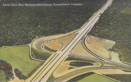 Pennsylvania Bedford Aerial View Blue Mountain Interchange Penns
