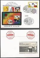 A1923) Bund Telefonkarten-Brief Zur Ausstellung Düsseldorf 1990 - BRD