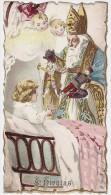 IMAGE PIEUSE- ST NICOLAS - ENFANTS JOUET - 12,5 X 7 Cm - Santini