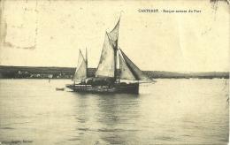 2p - 50 - Carteret - Manche - Barque Sortant Du Port - Legrin - Carteret