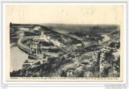 Cuzion Recto-Verso Vue Panoramique Du Barrage D´Eguzon Cachet Poste Cuzion 6 Juillet 1939, Timbre Mercure 70c Lilas-rose - Unclassified