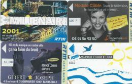 35Po   Marseille Lot De 4 Tickets Cartes Libertés RTM - Télécartes