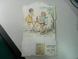 CALENDRIER ALIMENTATION LOUIS CONTE DE FOIX  (09) ILLUSTRATION DE PIRROF ? (UN PEU DANS LE GENRE GERMAINE BOURET) 1938 - Calendriers