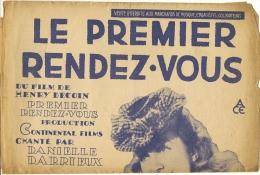 Partition Affichette 27 X 36 Cm LE PREMIER RENDEZ VOUS  Par DANIELLE DARIEUX - Musique & Instruments