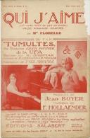 Partition Affichette 1932 QUI J´AIME Par Melle FLORELLE Du Film TUMULTE Paroles De Jean BOYER Musique F.HOLLAENDER - Musique & Instruments