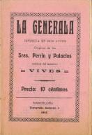 Programa Opereta LA GENERALA De Perrin Y Palacios, Barcelona 1912 - Programas