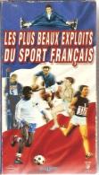 K7,VHS. Coffret 2 VHS. LES PLUS BEAUX EXPLOITS DU SPORT FRANCAIS.Spanghero,Kiki Caron,Alain Calmat,Fontaine,Trésor,Jazy - Sport