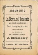 Programa Opereta LA NOVIA Del TENIENTE De Joaquin Arqués, Barcelona - Programas
