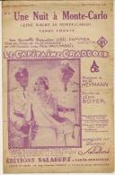 Partition Affichette 1931 UNE NUIT A MONTE-CARLO Du Film Le Capitaine CRADDOCK - Musique & Instruments