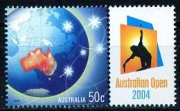 Australia 2004 Tennis - Australian Open With 50c Globe MNH - Ongebruikt