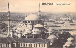 TURQUIE Turkey  -CONSTANTINOPLE Mosqué Suleimanié (Mosquée Religion) *PRIX FIXE - Turquie