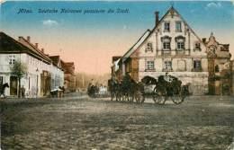 Réf : BO-13-401 : Mitau Deutsche Kolonnen Passieren Die Stadt - Lettonie