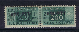 Italie Trieste Zone A AMG-FTT  Pachi Postali Nr 23  MH/* , - Nuovi