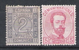 01797 España  Edifil 116 / 118 * Cat. Eur. 68,- - 1872-73 Reino: Amadeo I