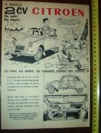 PUB PUBLICITE AUTO CITROEN 2CV 2 CV MAGNIFIQUEMENT ILLUSTREE PAR JEAN LUC LA NOUVELLE - Collections