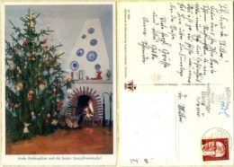 Ak Weihnachten - Kamin - Weihnachtsbaum - Non Classificati
