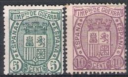 01805 España Edifil 154 (*) / 155 * Cat. 31,- - 1873 1. Republik