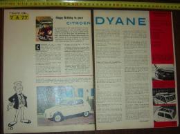 PUB PUBLICITE AUTO CITROEN ANNIVERSAIRE LA DYANE - Vecchi Documenti
