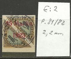 ESTLAND ESTONIA Estonie 1923 Michel 45 B II + ERROR E: 2 + INVERTED OPT !!! Signed Eichenthal - Estland