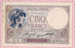 5 Francs Violet, Ref Fayette 3-17 NEUF - 5 F 1917-1940 ''Violet''