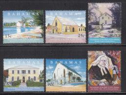 Bahamas MNH Scott #1100-#1105 Set Of 6 Churches, John Wesley - Bahamas (1973-...)