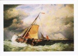 Maritime Art Postcard Dutch Trawlers At Anchor EW Cooke Sailing Ship Fishing - Fishing Boats
