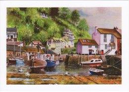 Maritime Art Postcard Cornish Harbour Miller Watercolour Painting Sailing Boat - Fishing Boats