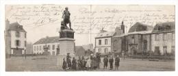 FINISTÈRE / CARHAIX / STATUE À LA TOUR D' AUVERGNE, PANORAMA DE LA PLACE / CARTE-DOUBLE 1903 ( Texte : LAMIOT De CERET ) - Carhaix-Plouguer