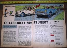 PUB PUBLICITE AUTO CABRIOLET 404 PEUGEOT ET 2CV CITROEN  ILLUSTREE PAR JIDEHEM - Collections