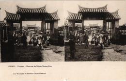 C1912 , 5 Postccards ( 4 Stereo )  China Jinricksha La Wa Tann  Sethuen  Ruine Yunnan  Rue Tchau Toung Fou VIA SIBERIA - China