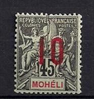 MOHELI, AÑO 1912, YVERT 21A *, COLONIAS FRANCESAS, ALTO VALOR DE CATÁLOGO