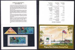 Papua New Guinea 1988 Australia's Bicentennial Celebrations, SYDPEX 88 Stamp Pack - Papouasie-Nouvelle-Guinée