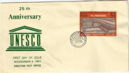PAKISTAN 1971 FDC MNH SAVE MOENJODARO UNESCO FIRST DAY COVER