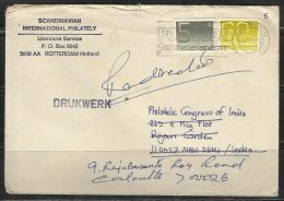 2 Stamps On Cover From Netherlands To India  1.36 - 1980-... (Beatrix)