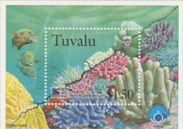 Tuvalu 1998 Marine Life Souvenir Sheet  MNH - Tuvalu