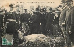 CHASSE A COURRE EN FORET DE FONTAINEBLEAU LA MORT - Chasse