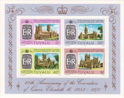 Tuvalu 1978 25th Anniversary Of  Coronation Mini Sheet  MNH - Tuvalu