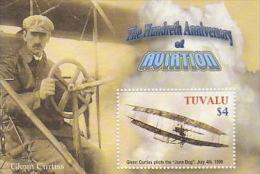 Tuvalu 2002 Powered Flight Centenary MS  MNH - Tuvalu
