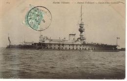 """CPA TRANSPORT BATEAU DE GUERRE - """"L""""Amiral Trébouart"""" Garde Côte Cuirassé - Sottomarini"""