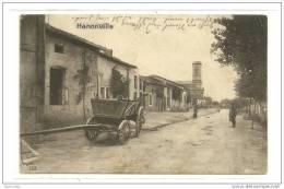 HANONVILLE(55)1916-occupation-soldat Allemand-attelage-écrite Et Cachets Allemands - Autres Communes