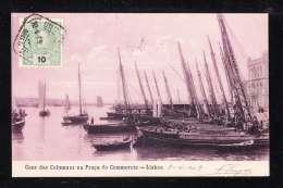 PT1-70 LISBOA CAES DAS COLUMNAS NA PRACA DO COMMERCIO - Lisboa