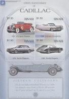 Tuvalu 2003 General Motors Cadillac Sheet  MNH - Tuvalu