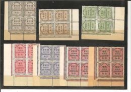 RSDP002/  Zähldienst  1903 Mi.Nr. 1-8 (ex Nr. 6) **   Eckrand-4-erBlöcke Links Unten - Deutschland