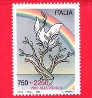 ITALIA - 1995 - NUOVO - Pro Alluvionati - 750 L. + 2250 L. • Colomba, Ramoscello D´ulivo, Albero E Arcobaleno - 1991-00:  Nuovi