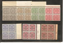 RSDP004/ Zähldienst  1903 Mi.Nr. 1-8 (ex Nr. 6) Seitenrand (3 Mit Nummern) ** - Deutschland