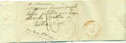 """Belgique - Précurseur Stavelot Vers Tellin Du 17/10/1831, Griffe """"STAVELOT"""", Port 20, Cachet à Date SPA (H7), Superbe - 1830-1849 (Belgique Indépendante)"""
