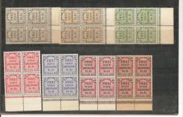 RSDP006/ Zähldienst  1903 Mi.Nr. 1-8 (ex Nr. 6) 4-er Blöcke Vom Unterrand  ** - Deutschland