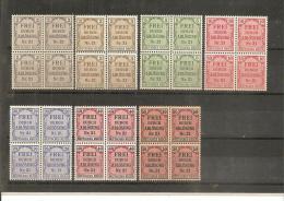 RSDP007/ /  Zähldienst  1903 Mi.Nr. 1-8 (ex Nr. 6) **   4-er Blöcke - Deutschland